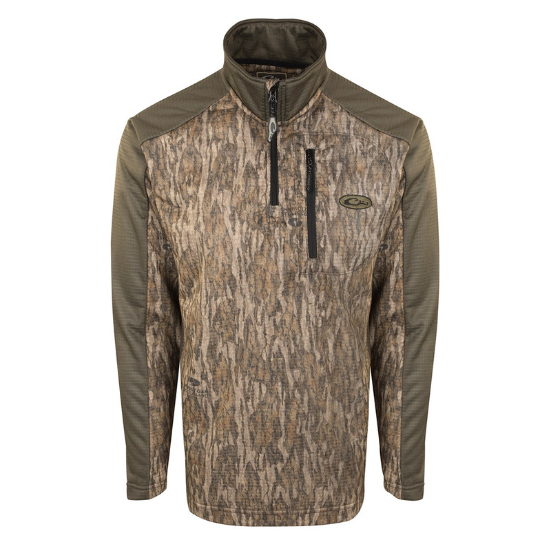 Drake Breathlite 2.0 1/4 Zip Pullover in Mossy Oak Bottomland Color