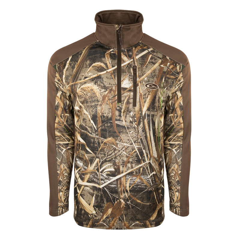 Drake Breathlite 2.0 1/4 Zip Pullover in Realtree Max 5 Color