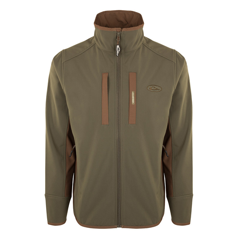 Drake Windproof Tech Jacket in Olive Brown Color