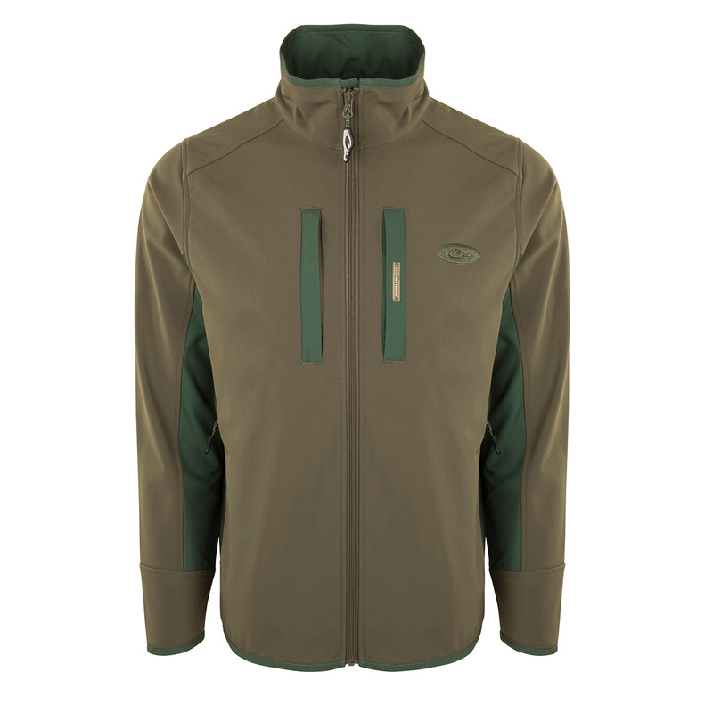 Drake Windproof Tech Jacket in Olive Dark Green Color