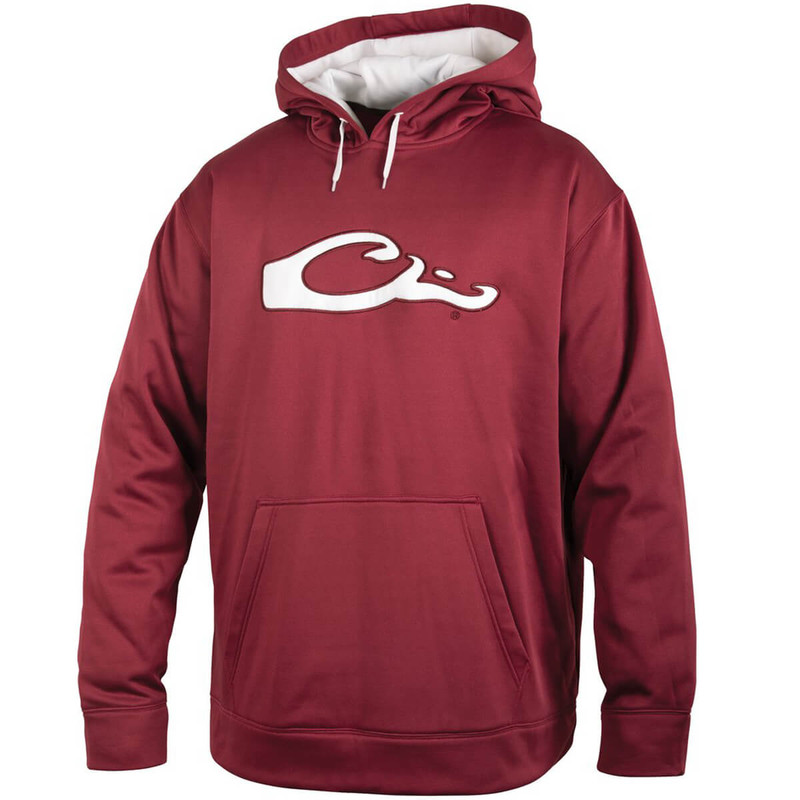 Drake Performance Hoodie in Maroon White Color