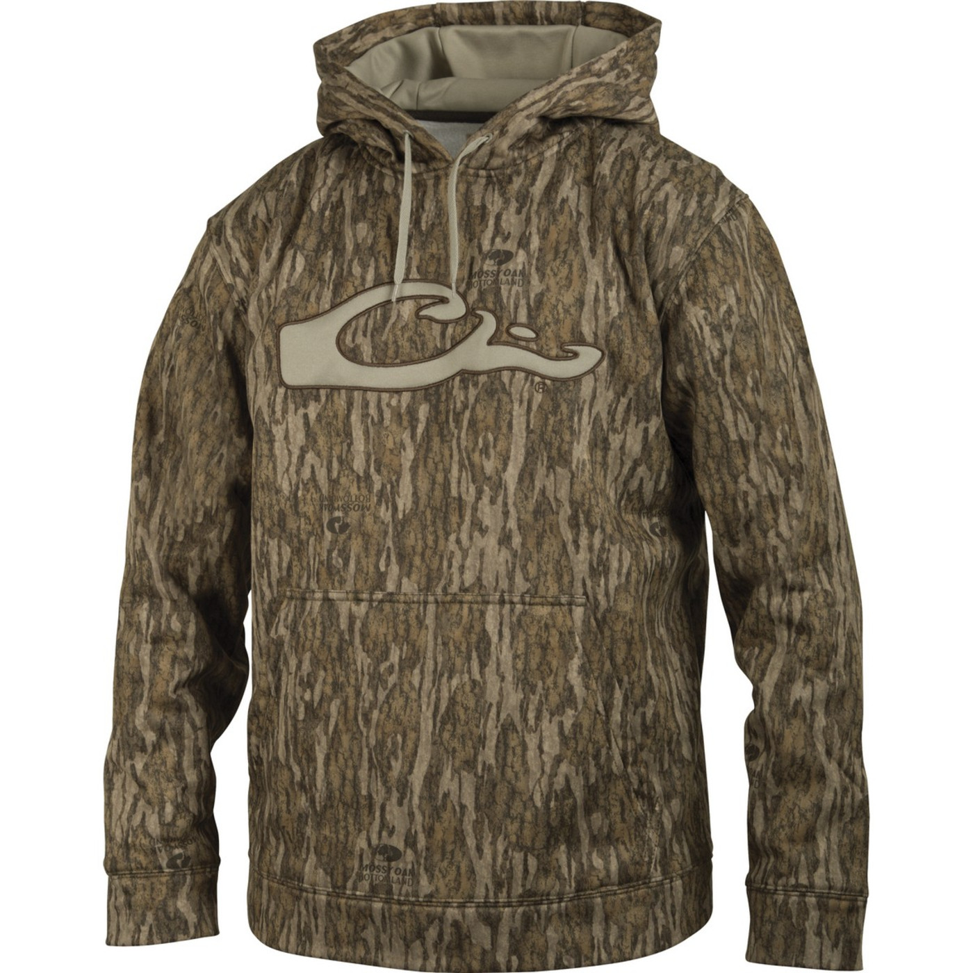 Drake Performance Hoodie in Mossy Oak Bottomland Color