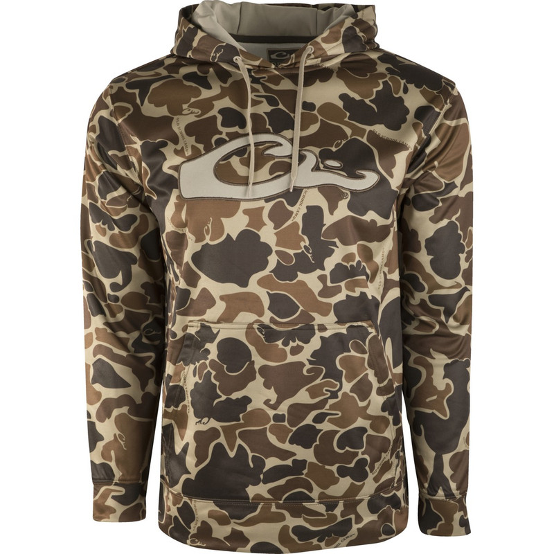 Drake Performance Hoodie in Old School Camo Color