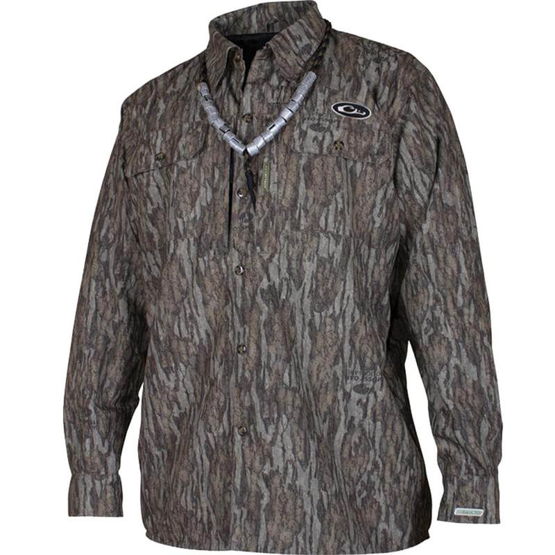 Drake est heat escape waterproof hunting shirt for Drake fishing shirts