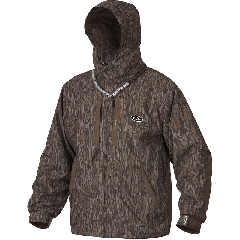 Drake EST Heat Escape Waterproof Full Zip 2.0 Jacket in Mossy Oak Bottomland Color