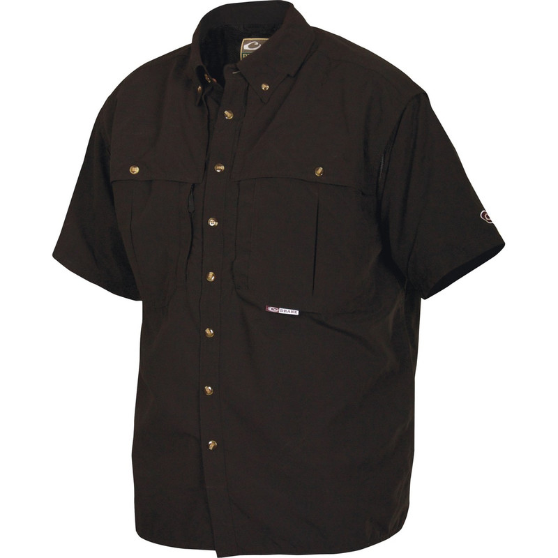 Drake Short Sleeve Vented Wingshooters Shirt in Black Color