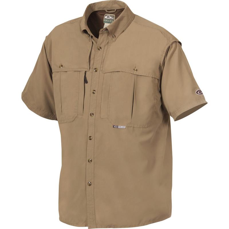 Drake short sleeve vented wingshooters shirt for Drake fishing shirts