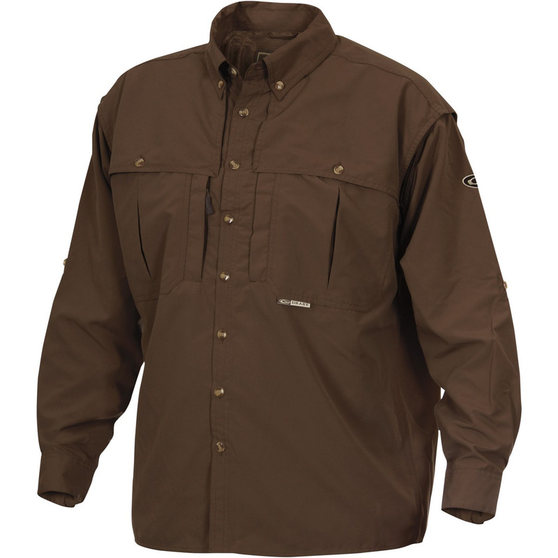 Drake Long Sleeve EST Vented Wingshooter's Hunting Shirt in Olive Color