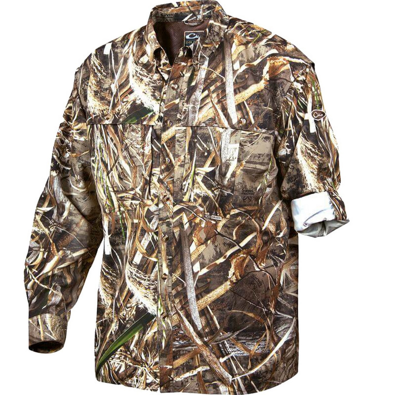 Drake Long Sleeve EST Vented Wingshooter's Hunting Shirt in Realtree Max 5 Color