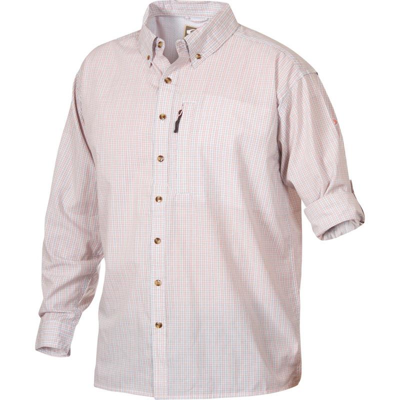 Drake vented delta long sleeve casual hunting shirt for Drake fishing shirts