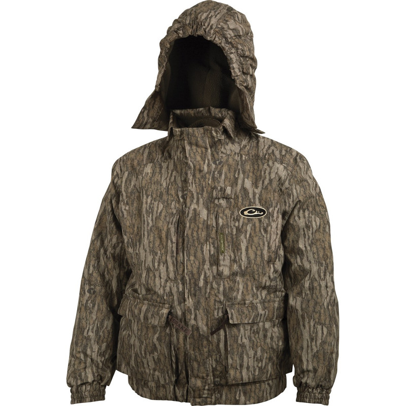 Drake Young Guns Youth 3-In-1 Jacket in Mossy Oak Bottomland Color