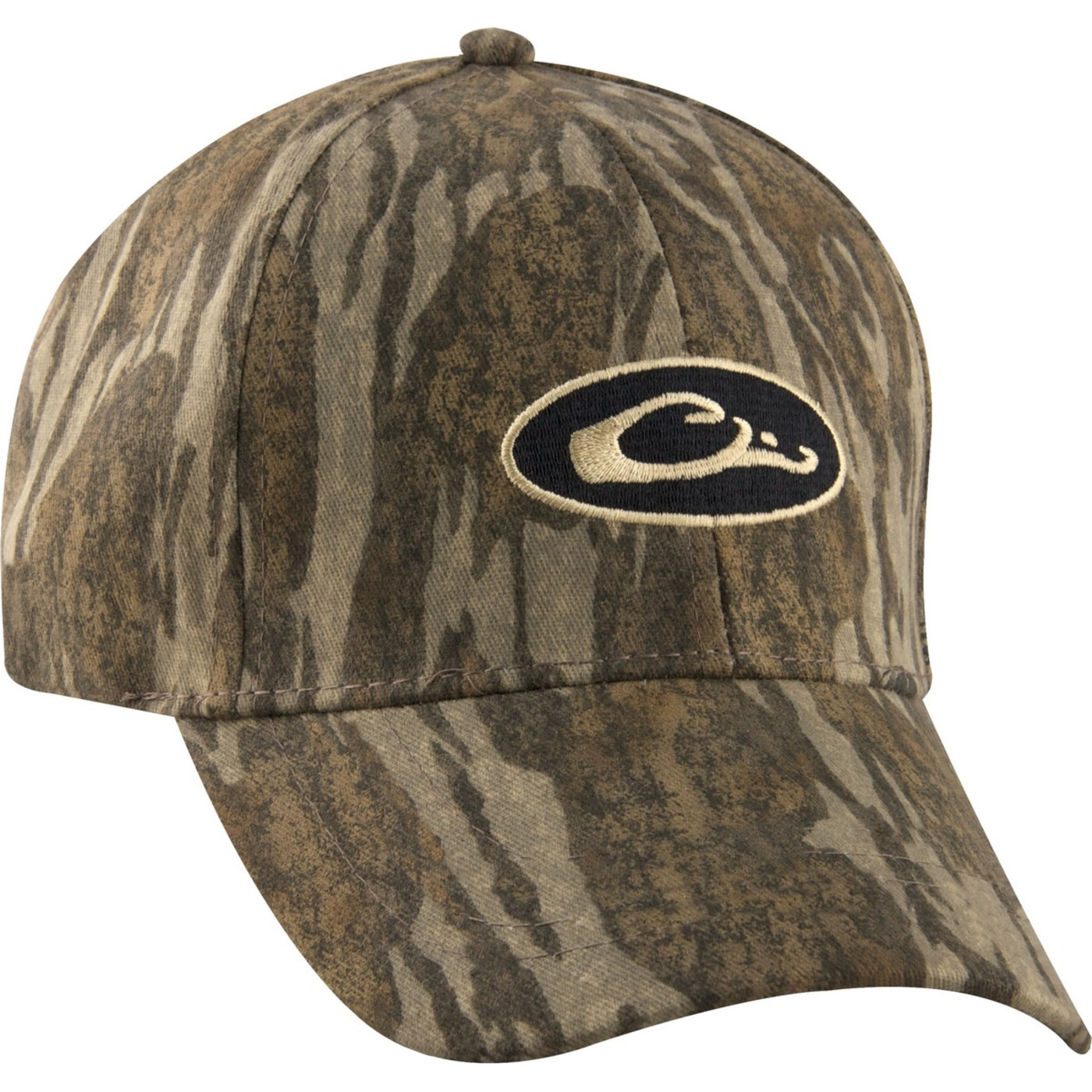 Drake Young Guns Waterproof Cap in Mossy Oak Bottomland Color
