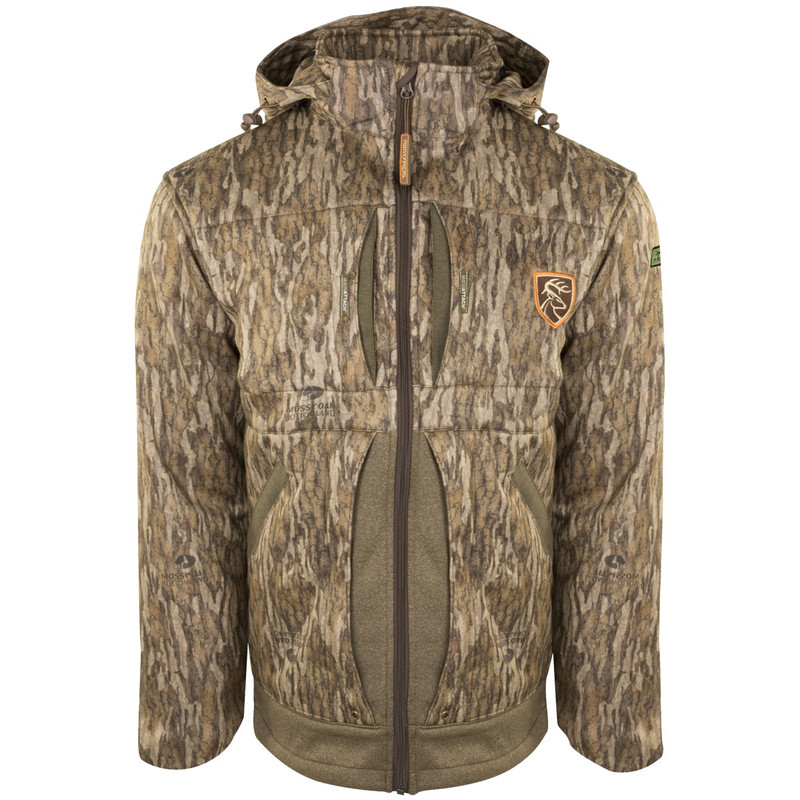 Drake Non Typical Stand Hunters Endurance Jacket With Agion in Mossy Oak Bottomland Color