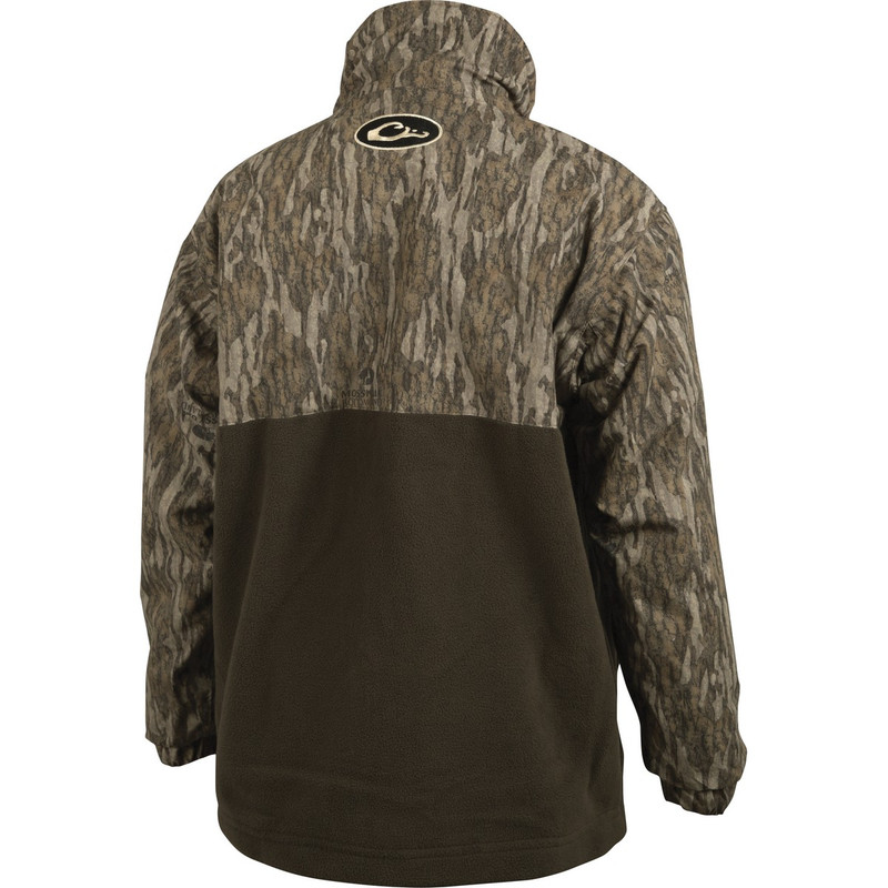 Drake Youth MST Eqwader Quarter Zip Hunting Pullover in Mossy Oak Bottomland Color