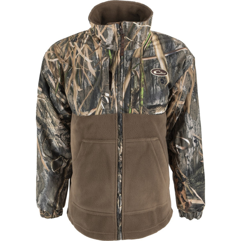 Drake Young Guns MST Youth Eqwader Full Zip in Mossy Oak Blades Habitat Color