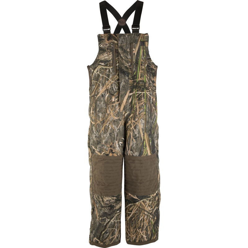 Drake Youth LST Insulated Hunting Bib in Mossy Oak Blades Habitat Color