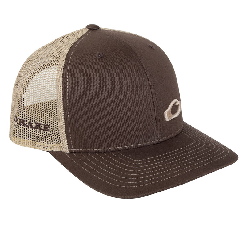Drake Enid Mesh Back Cap in Brown Khaki