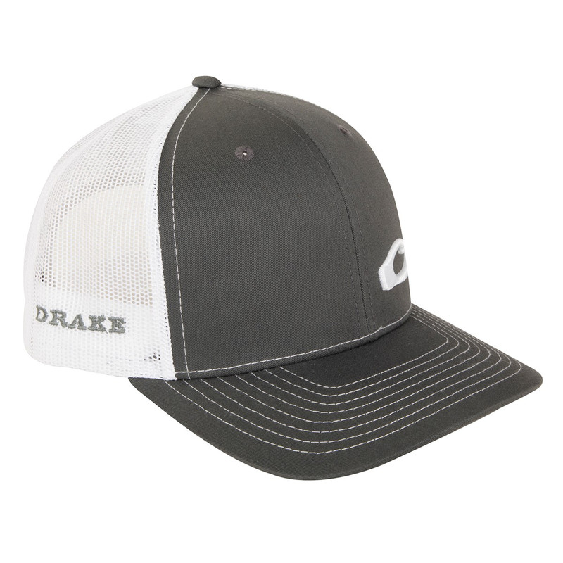 Drake Enid Mesh Back Cap in Charcoal White