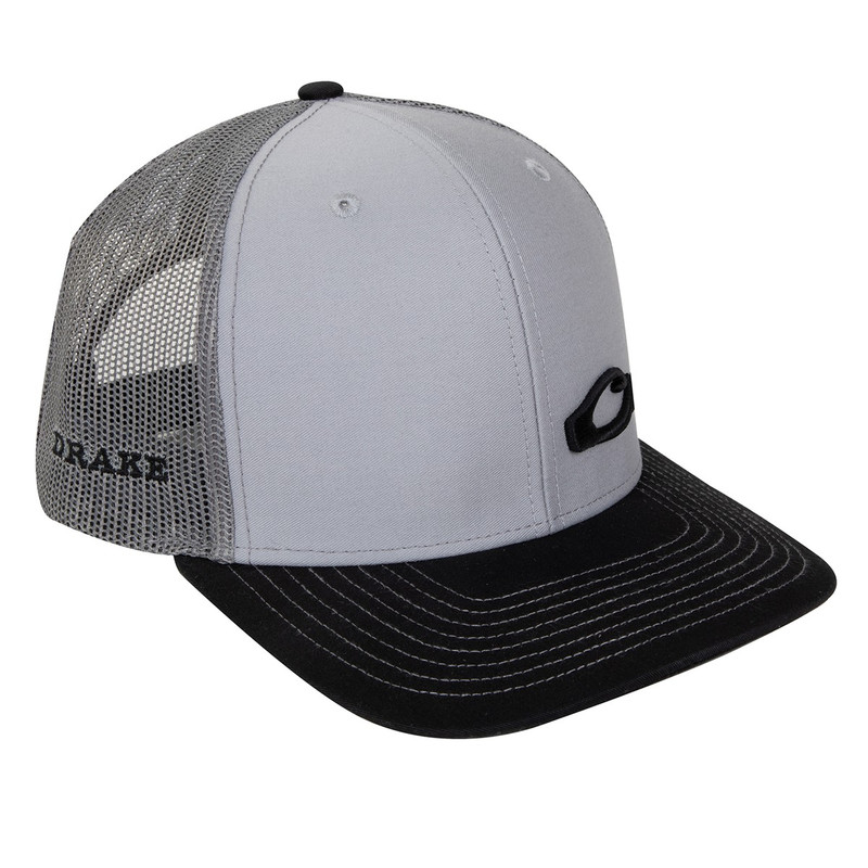 Drake Enid Mesh Back Cap in Grey Charcoal Color