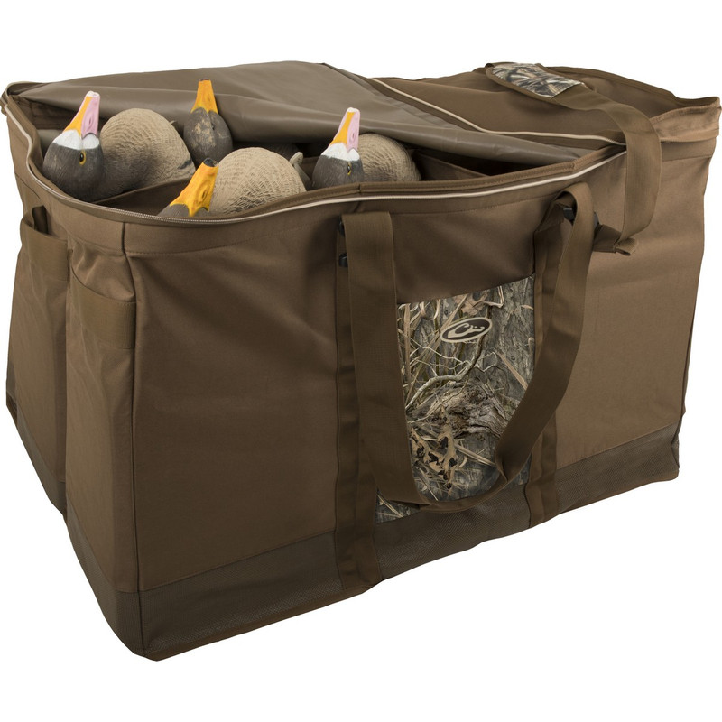 Drake Zippered Top 6 Slot Decoy Bag in Mossy Oak Blades Habitat Color