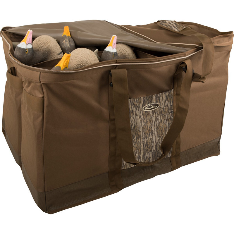 Drake Zippered Top 6 Slot Decoy Bag in Mossy Oak Bottomland Color