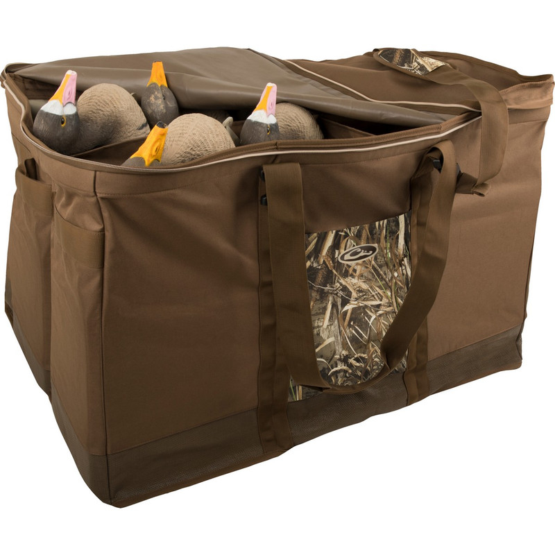 Drake Zippered Top 6 Slot Decoy Bag in Realtree Max 5 Color