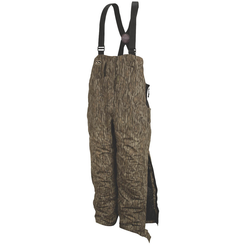 Drake Women's LST Insulated Hunting Bib in Mossy Oak Bottomland Color
