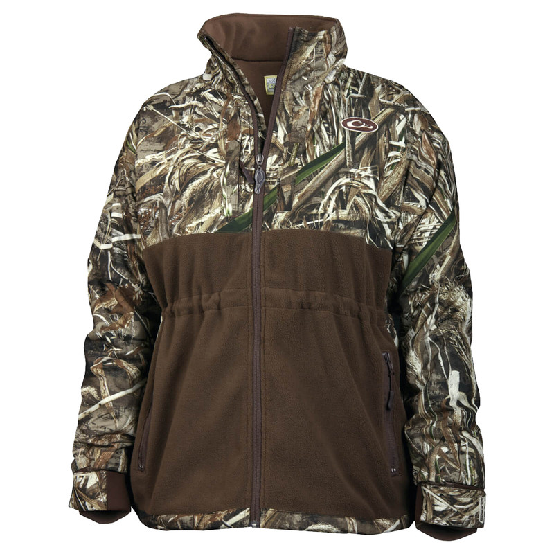 Drake Women's MST Full Zip in Realtree Max 5 Color