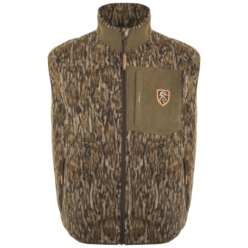 Drake Non-Typical Windproof Layering Vest With Agion in Mossy Oak Bottomland Color