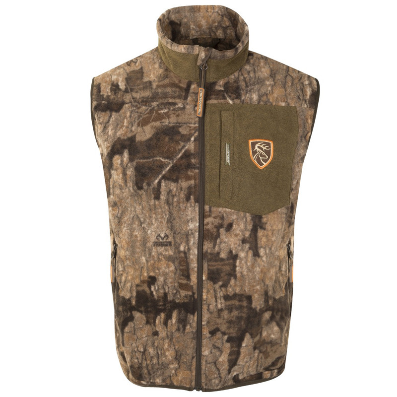 Drake Non-Typical Windproof Layering Vest With Agion in Realtree Timber Color