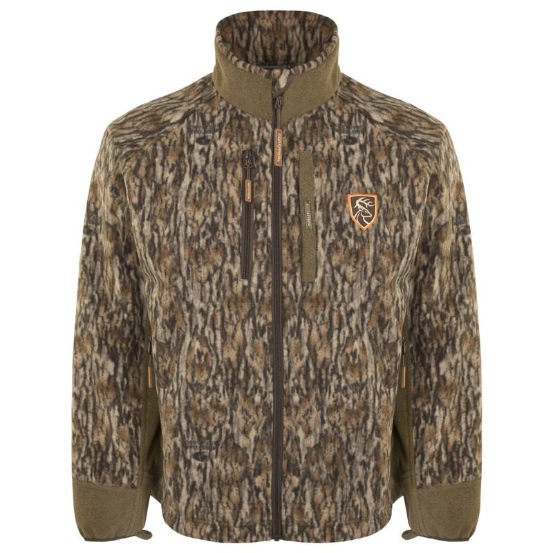 Drake Non-Typical Windproof Layering Jacket With Agion in Mossy Oak Bottomland Color
