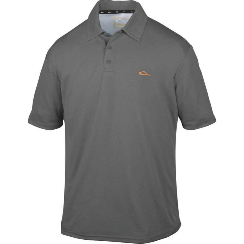 Drake Heathered Polo in Charcoal Heathered Color