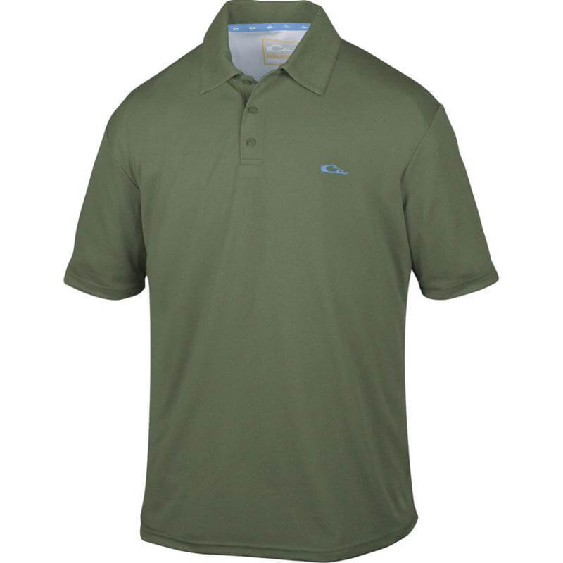 Drake Heathered Polo in Green Heathered Color