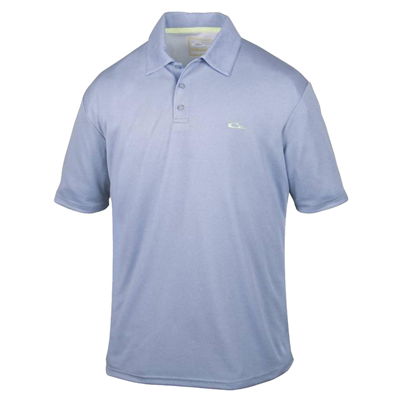 Drake Heathered Polo in Powder Blue Heathered Color