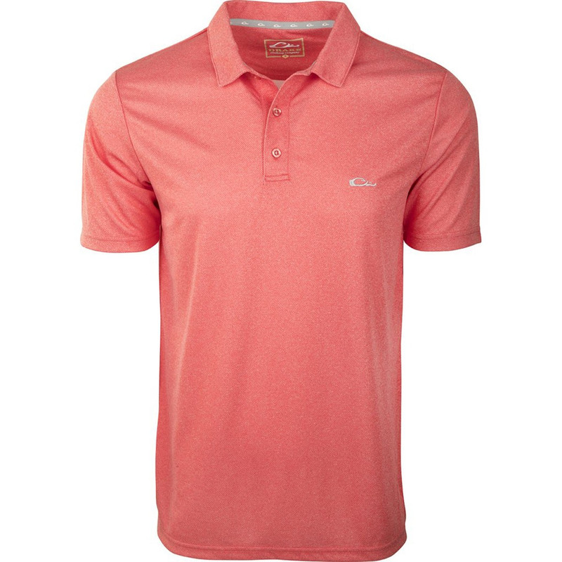 Drake Heathered Polo in Red Heather Color