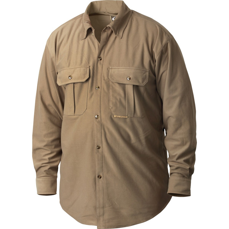 Drake Waterfowl 3-Pocket Micro-Fleece Shirt in Desert Khaki Color