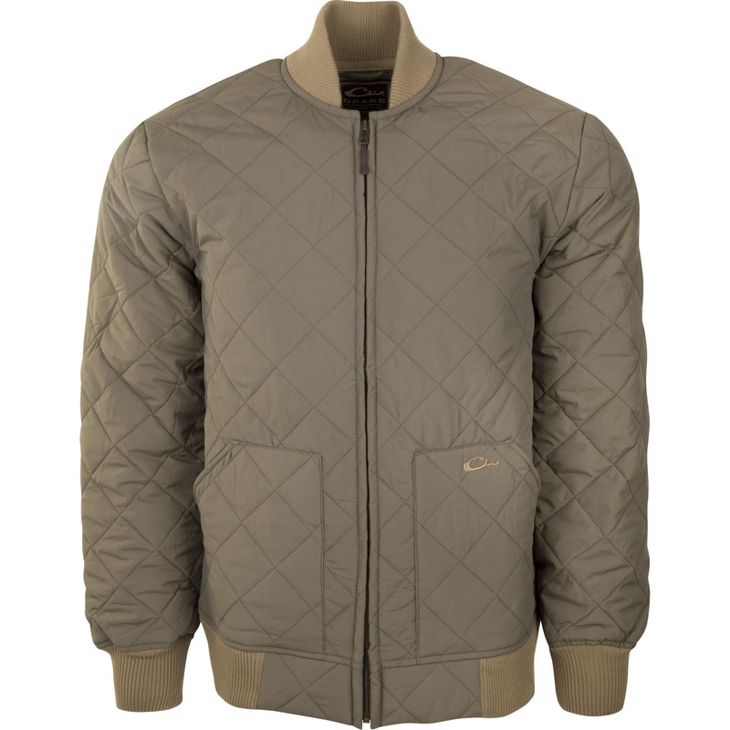 Drake Mens Quilted Classic Insulated Jacket in Antique Sage Color