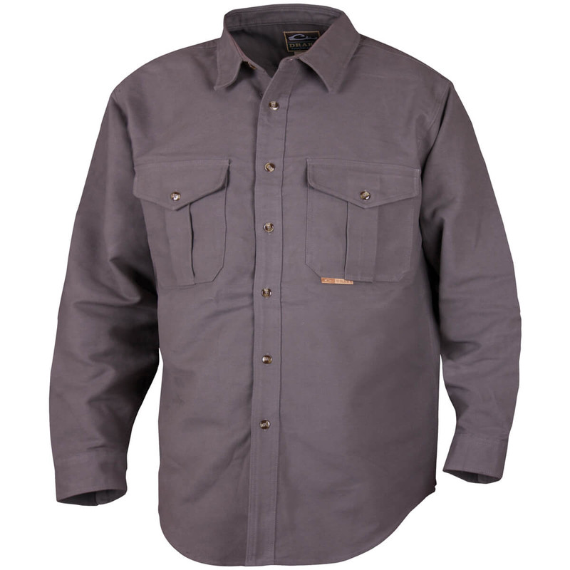Drake Classic Mole Skin Shirt in Charcoal Color