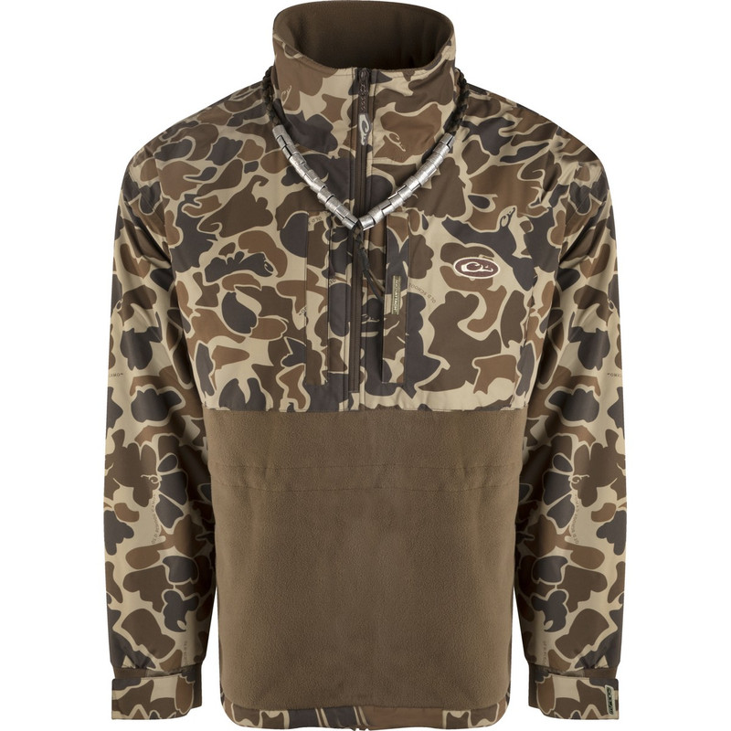 Drake MST Eqwader Plus Quarter Zip Pullover in Old School Camo Color