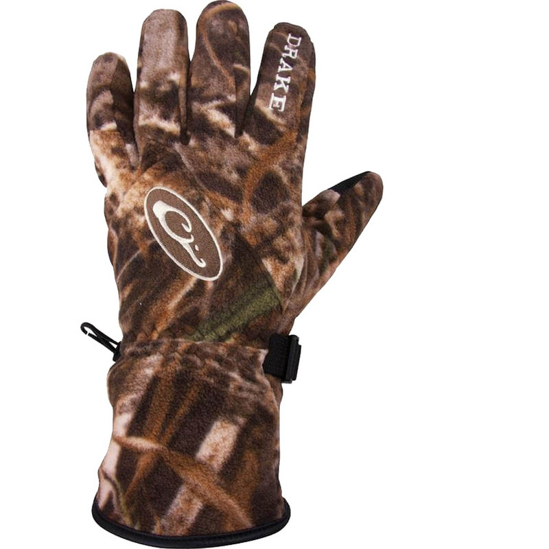 Drake MST WindStopper Fleece Shooter Gloves in Realtree Max 5 Color