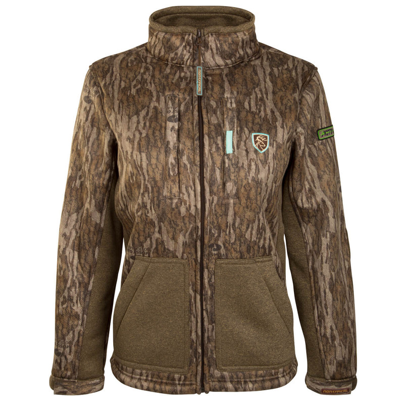 Drake Scent Control Non-Typical Women's Silencer Jacket With Agion Active XL in Mossy Oak Bottomland Color