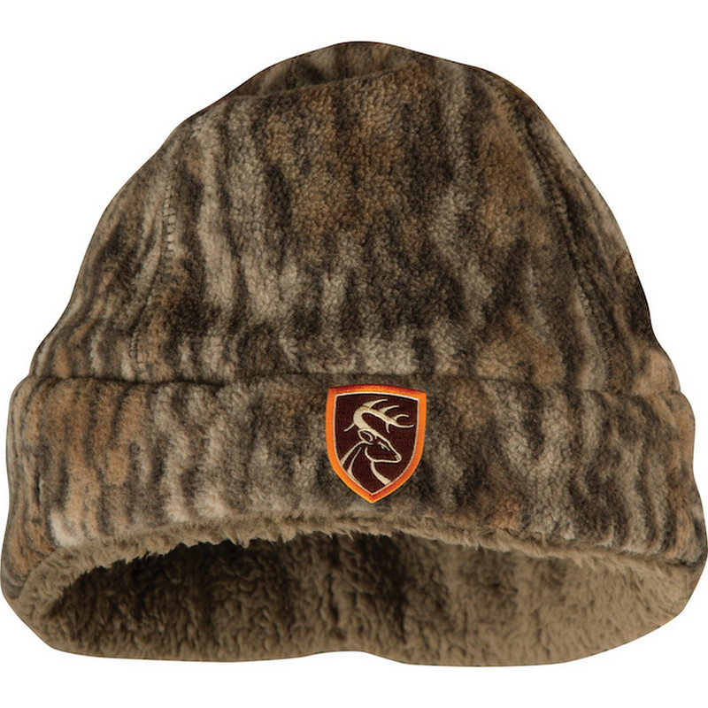 Drake Non-Typical Youth Hyrdo-Hush Beanie in Mossy Oak Bottomland Color
