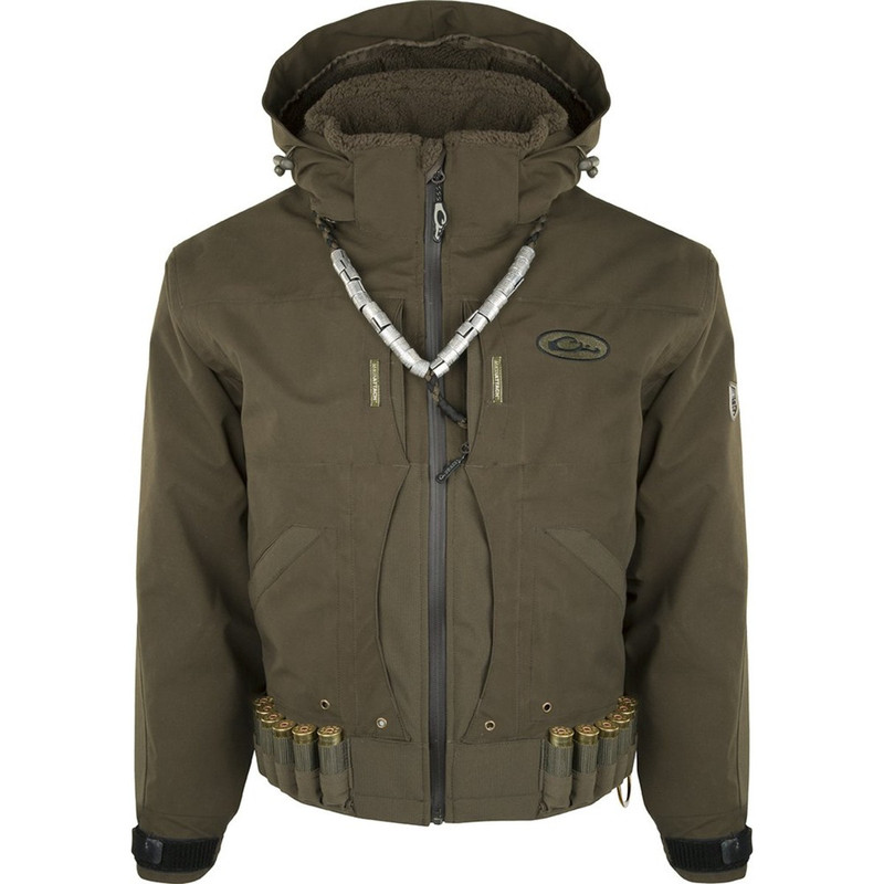 Drake Guardian Elite Flooded Timber Insulated Hunting Jacket in Green Timber Color