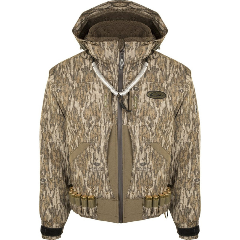 Drake Guardian Elite Flooded Timber Insulated Hunting Jacket in Mossy Oak Bottomland Color