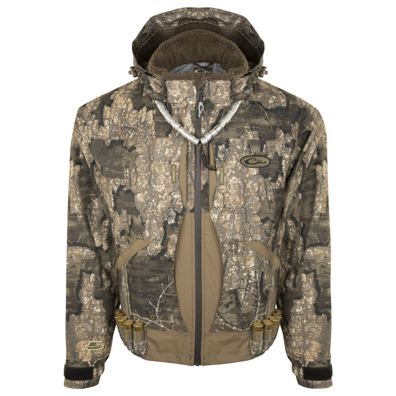 Drake Guardian Elite Flooded Timber Insulated Hunting Jacket in Realtree Timber Color
