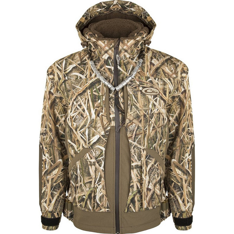 Drake Guardian Elite Layout Blind Hunting Jacket - Shell Weight in Mossy Oak Shadow Grass Blades Color