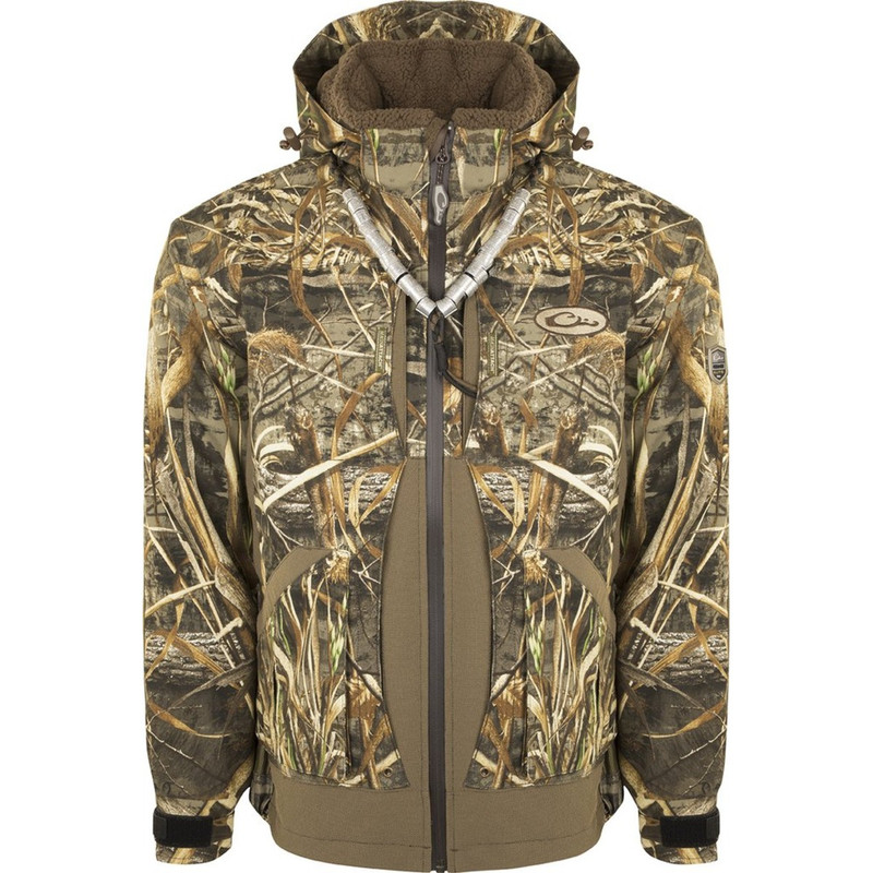 Drake Guardian Elite Layout Blind Hunting Jacket - Shell Weight in Realtree Max 5 Color