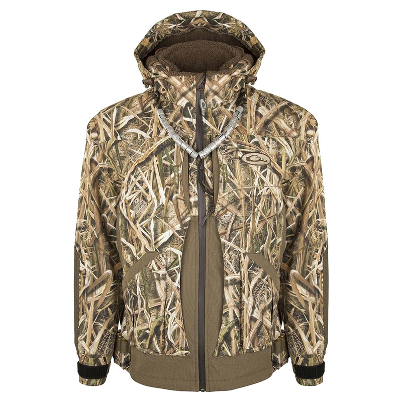Drake Guardian Elite Layout Blind Insulated Hunting Jacket in Mossy Oak Shadow Grass Blades Color