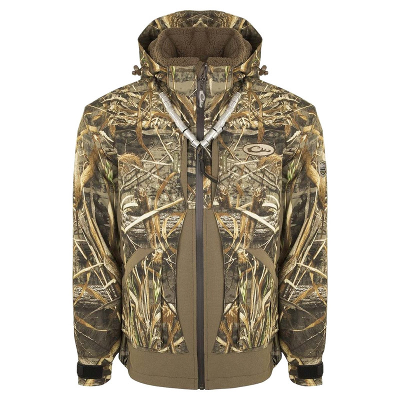 Drake Guardian Elite Layout Blind Insulated Hunting Jacket in Realtree Max 5 Color
