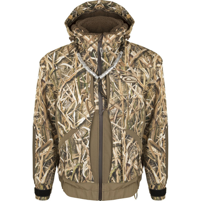 Drake Guardian Elite Boat & Blind Insulated Hunting Jacket in Mossy Oak Shadow Grass Blades Color